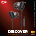 Discover Wired Earphone with Volume Control Black