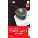Dual Output Energy Charger Metal Series Mega Power Super Strong Capability 2.4A Output - WC750